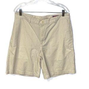 Vineyard Vines Seer Sucker Shorts Tan White 34